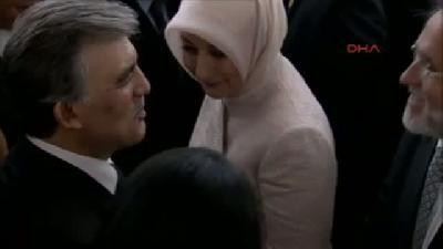 (arşiv Görüntü) Cumhurbaşkanı Abdullah Gül'ün Veda Resepsiyonunda Eşi Hayrünnisa Gül'e Müdahale Etti