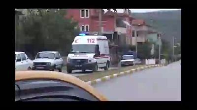 Koluna demir saplanan çocuk hastaneye kaldırıldı - TOKAT
