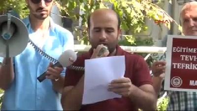 Mazlum- Der, İzmir'de 'tevhid-i Tedrisat Kanunu Kaldırılsın' Eylemi Yaptı