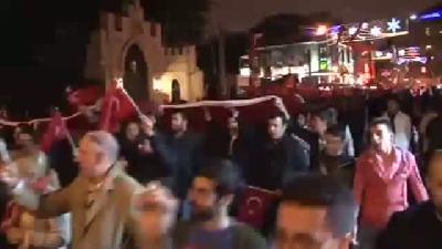 Mhp'den Taksim'de Meşaleli Yürüyüş-VİDEO