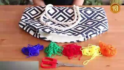Plaj çantası süsleme