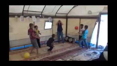 Irak'taki Çatışmalar - Yezidilerin çocukları için oyun çadırı kuruldu - ŞIRNAK