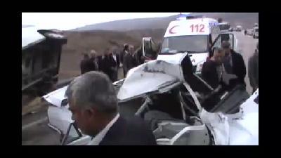 Trafik kazası: 1 ölü, 7 yaralı - ADIYAMAN