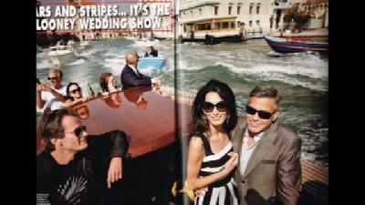Hello Dergisi George Clooney Ve Amal'ın Düğün Fotoğraflarını Yayınladı