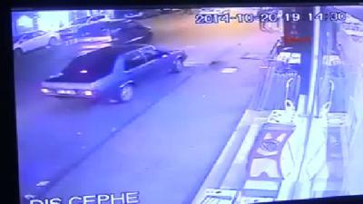 Ereğli'deki Trafik Kazası Güvenlik Kamerasında