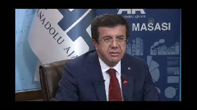 Ekonomi Bakanı Zeybekci AA Finans Masası'na konuk oldu - ANKARA