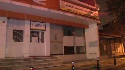 Ümraniye'de Ak Parti Mahalle Temsilciliği Binasına Ateş Açıldı