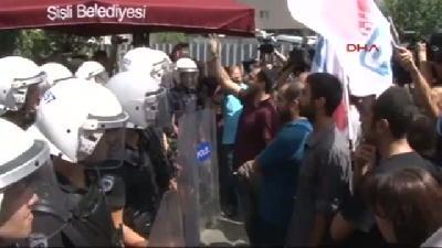 İşçiden Polise: Gaz Sıkmayın