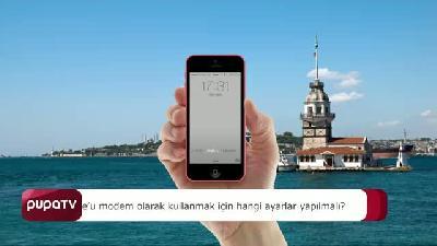 iPhone modem olarak nasıl kullanılır?