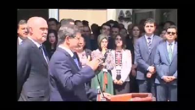 """Davutoğlu:  """"Gönül isterdi ki bugün Musul'daki kardeşlerimiz de aramızda olsun"""" - ANK"""