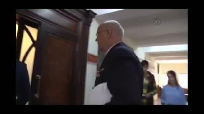 Alman Komutan Deniz Albay Ehlers'ten Vali Öz'e veda ziyareti - TRABZON