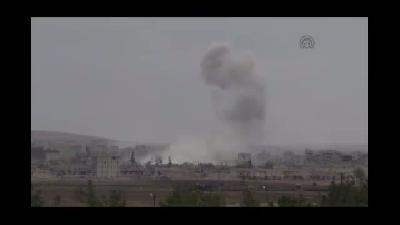 IŞİD ile bazı Kürt gruplar arasındaki çatışmalar - Binaların arasına perde