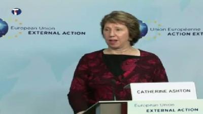 Kosova Başbakanı Haşim Taçi'den, Catherine Ashton'a Veda Ziyareti