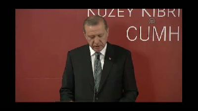 """Erdoğan: """"Mevcut durumun ilanihaye devam etmesine izin verilmesi asla mümkün değildir - LEFKOŞA"""