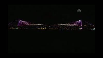 Boğaziçi Köprüsü, prematüre bebekler için mor - İSTANBUL