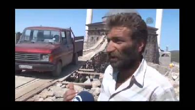 """Karadeniz usulü """"köprü"""", cami inşaatını kolaylaştırdı - TRABZON"""