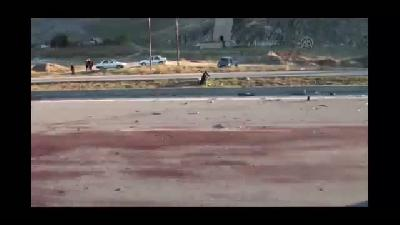 İneğe çarpan otomobilin sürücüsü yaralandı, inek telef oldu - K. MARAŞ