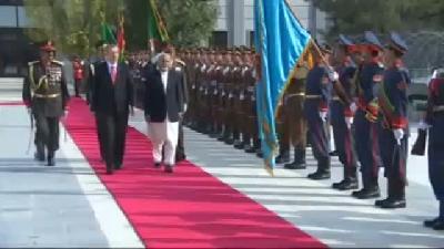 2// Cumhurbaşkanı Erdoğan, Afganistan'da Askeri Törenle Karşılandı