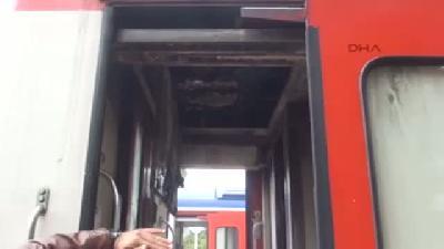 Yolcu Trenindeki Yangın Korkuttu