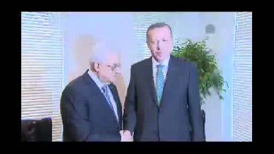 Erdoğan-Mahmut Abbas görüşmesi - NEW YORK