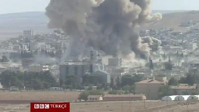 Kobani'de IŞİD'e yönelik yeni hava saldırıları