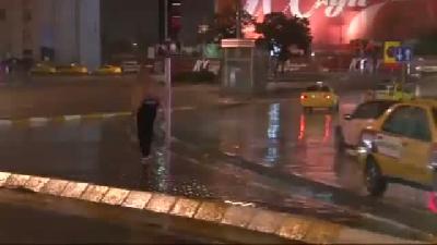 Görüntülü Haber) İstanbul'da Sabaha Karşı Yağmur Etkili Oldu