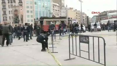 (görüntülü Haber) Taksim'de Polis Noktasına Ateş Açıldı (3g)