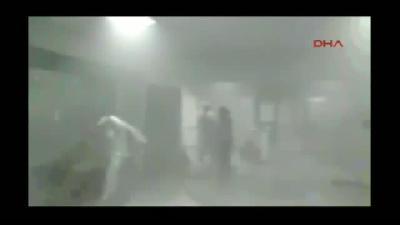 Çapa'daki Yangında Hastane İçinden Cep Telefonu Görüntüleri
