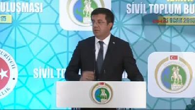 (görüntülü Haber) Ekonomi Bakanı Nihat Zeybekci Başbakan'ın Da Katıldığı Sivil Toplum Kuruluşları To