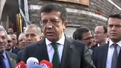 (görüntülü Haber) Ekonomi Bakanı Zeybekci Çuma Namazı çıkışı Açıklama Yaptı