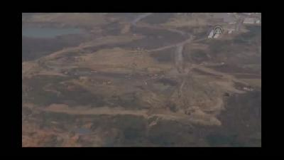 AA, yeni havalimanı inşaatını havadan görüntüledi