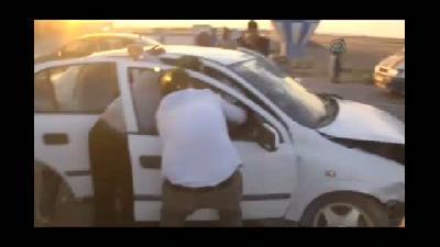 Suriyeliler kaza yaptı: 8 yaralı - ŞANLIURFA