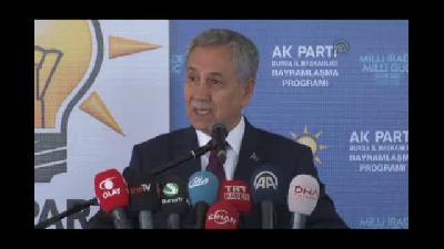 """Arınç: """"O bölgedeki insanlar hep şunu söyler; Osmanlı'ya ihanetin cezasını çekiyoruz"""""""
