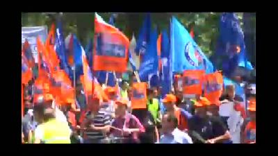 Sırbistan'da ''iş kanunu tasarısı'' protesto edildi - BELGRAD
