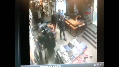 Hırsız polis kovalamacası kameraya böyle yansıdı