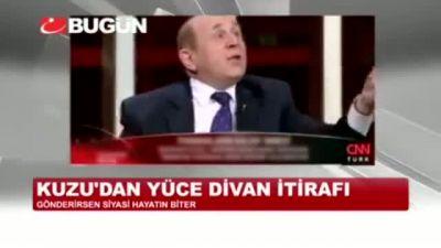 """Burhan Kuzu'dan Yüce Divan itirafı: """"Gönderirsen siyasi hayatın biter """""""